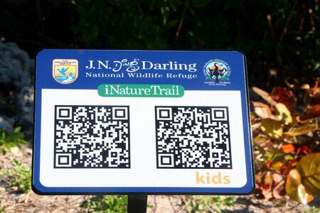 ding: iNature Trail Digital Sign Ding Darling Wildlife Refuge Sanibel Florida