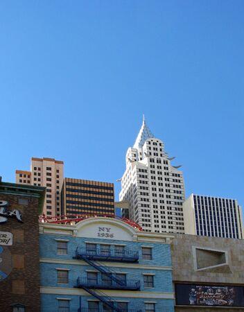 hotel and casino: LAS VEGAS NEVADA USA   NOVEMBER 11: New YorkNew York Hotel Casino 2012 Editorial