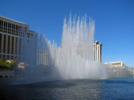 audiovisual: LAS VEGAS NEVADA USA   NOVEMBER 03: The Dancing Fountains of Bellagio Hotel and Casino 2012 Editorial