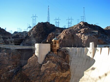 hoover: Hoover Dam on the Nevada Arizona Border