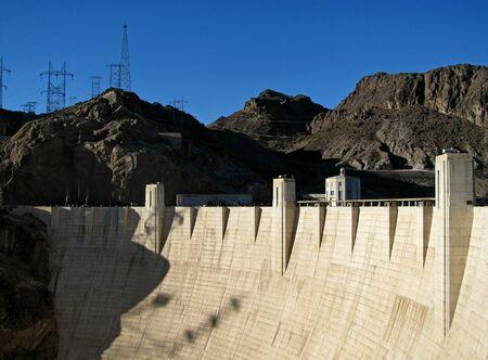 hoover dam: Hoover Dam on the Nevada Arizona Border