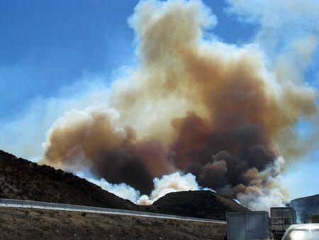 bernardino: SAN BERNARDINO CALIFORNIA  NOVEMBER 05: San Bernardino County California Devore Brush Fire 2012