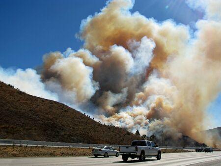 SAN BERNARDINO CALIFORNIA  NOVEMBER 05: San Bernardino County California Devore Brush Fire 2012