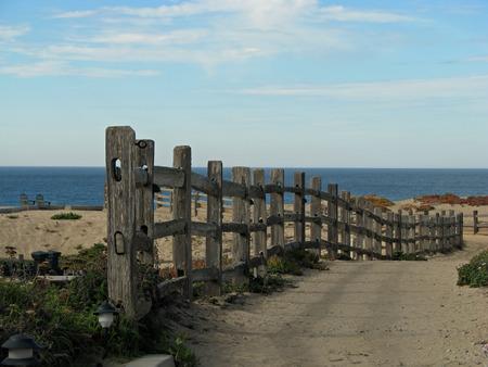 monterey: Pathway to Ocean on Monterey Bay Beach California