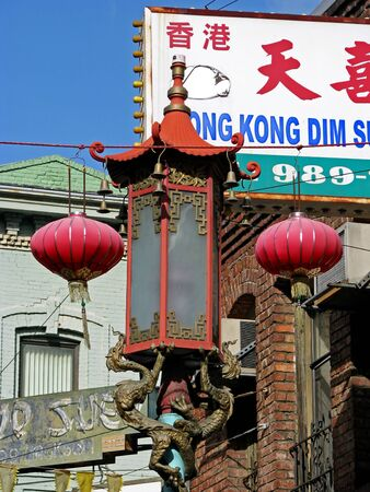 enclave: SAN FRANCISCO, CA - NOVEMBER 18:  The oldest Chinatown in North America 2012