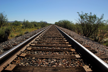 miles: Railroad Tracks Go on for Miles in West Texas