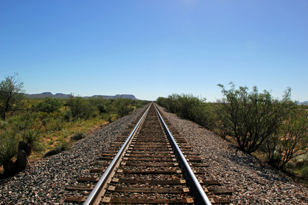 wood railroad: Railroad Tracks Go on for Miles in West Texas