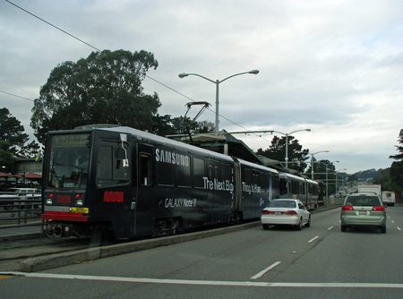 municipal editorial: SAN FRANCISCO, CA - NOVEMBER 16: SFMTA Caltrain Passenger Commuter Rail Service  2012