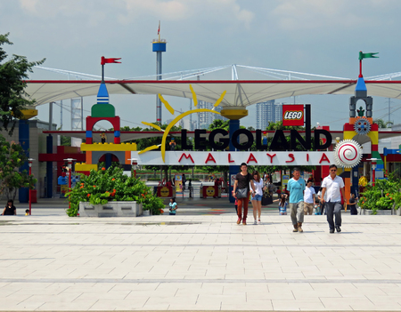 lock block: JOHOR MALAYSIA  - NOVEMBER 11: LEGOLAND Malaysia Resort 2014 Editorial