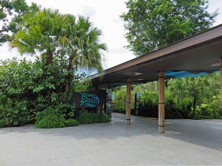 best travel destinations: SINGAPORE ASIA - NOVEMBER 14: Entrance Sign to the RIVER SAFARI; a river-themed zoo and aquarium November 14, 2014 in Singapore, Asia Editorial