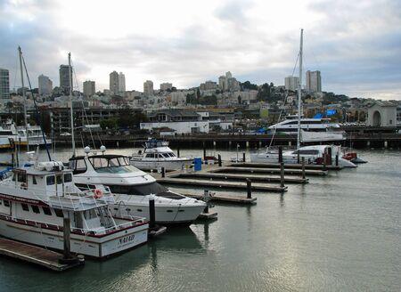 moorings: SAN FRANCISCO, CA - NOVEMBER 17: San Francisco Boats docked at Marina Pier 39 November 17, 2012 in San Francisco, California Editorial