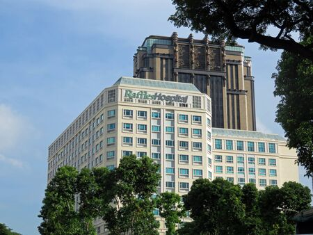 commercial building: Large Busy Urban Metropolitan City in Singapore Asia