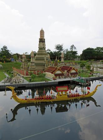 lock block: JOHOR MALAYSIA  - NOVEMBER 11:  Wat Arun is a Buddhist Temple on the Chao Phraya River in Bangkok Thailand LEGOLAND MINILAND Malaysia Theme Park November 11, 2014  in Johor, Malaysia Editorial