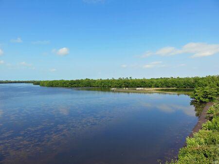 Scenic Landscape Ding Darling Wildlife Refuge Florida Stock Photo