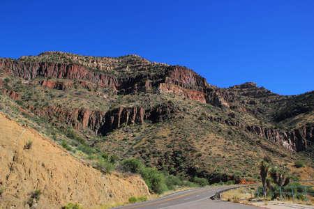 Landscape Mountain View off Interstate Arizona Route 60 Stock Photo