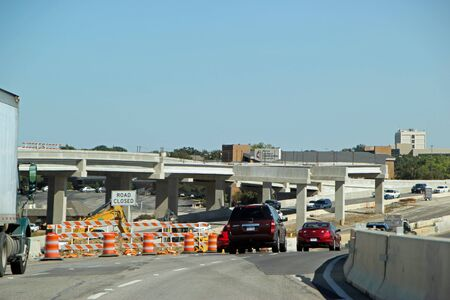FORT WORTH, TEXAS - OCTOBER 07: Highway Construction on Texas State Highway 26 Texas 2013 Editorial