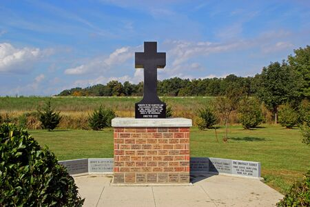 EFFINGHAM, IL - OCTOBER 10: Statue Dedicated to the Volunteers of The Cross at the Crossroads 2013