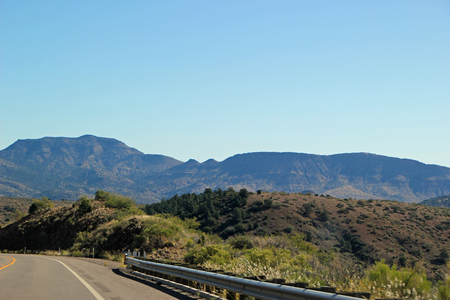 Mountain View from A Stretch of Open Highway