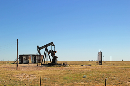 Oil Well Pumper in West Texas Field