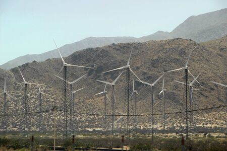 Landscape with Wind Turbines Coachella Valley California