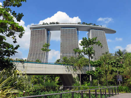 SINGAPORE ASIA - NOVEMBER 22: Marina Bay Sands, Singapore's Most Spectacular Hotel November 22, 2014 in Singapore, Asia