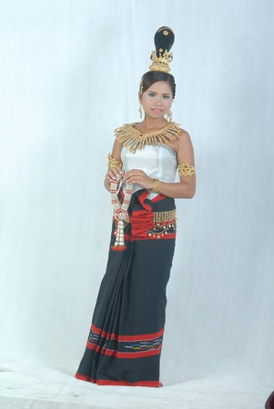 A Cambodian (Khmer) girl dressed in Cambodian custom/tradition. It