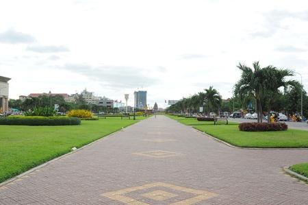 "Cambodia landscape of ""Independent Monument Park� in Phnom Penh."
