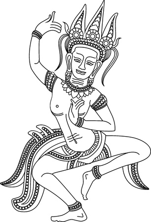 Apsara Draw Me one of the best Khmer arts of Angkor Wat temple in Siem Reap province, Cambodia. It's the world