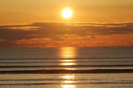 A beautiful Sunrise Over Lynn Beach Stockfoto