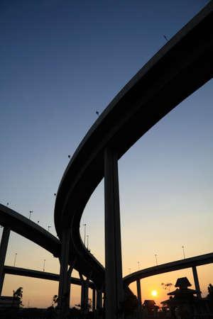 Curve bridge in Thailand