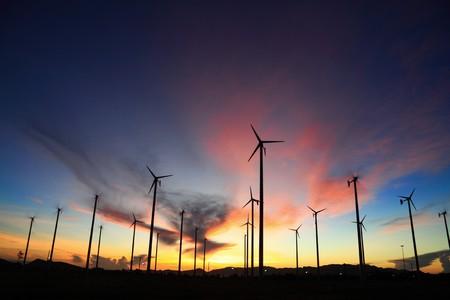 wind turbine in thailand  Stock Photo