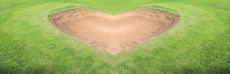 heart sand trap golf course