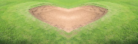 heart sand trap golf course