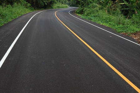road marks: new curve road