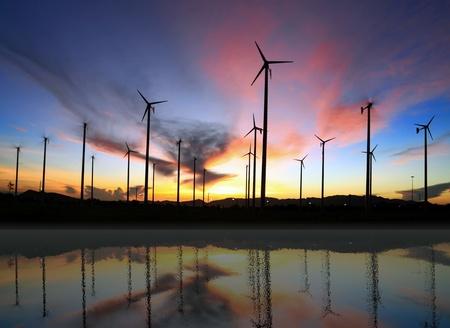 wind turbine and reflection