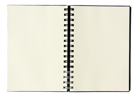 notebook on white background Stock Photo - 8467588