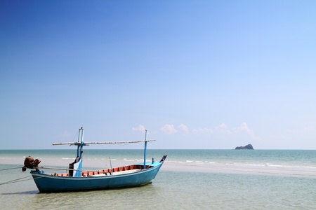 fishing boat on the sea at hua hin beach, thailand Stock Photo - 8664270