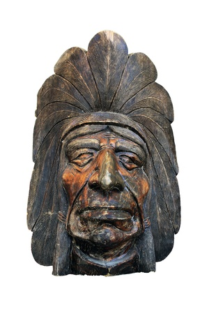 indian artifacts: indian head statue