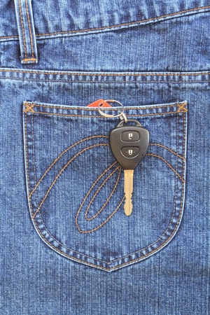 Blue jeans pocket with key Stock Photo - 8941652