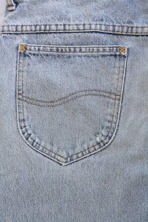 Blue jeans pocket Stock Photo - 8941642