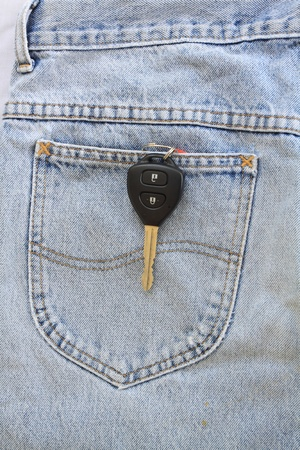Blue jeans pocket with  key Stock Photo - 8941645