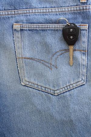 Blue jeans pocket with key Stock Photo - 8941613