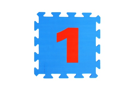 number puzzle on white background photo