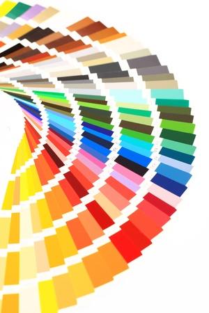 guide book: closeup color guide Stock Photo