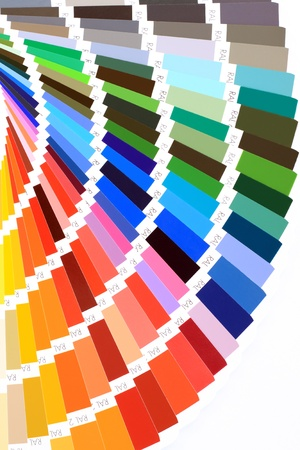 closeup color guide Stock Photo - 9592836