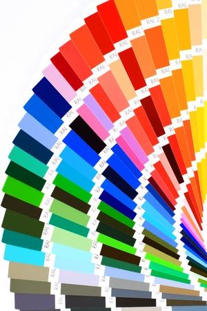 closeup color guide Stock Photo