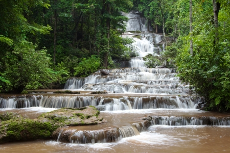 pajarern waterfall in thailand photo