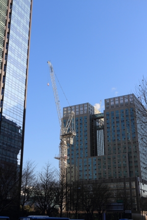 tower crane in the city,South Korea