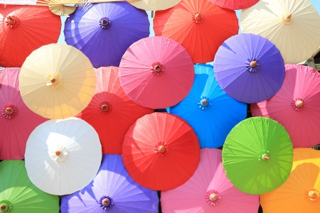 Colorful umbrellas photo