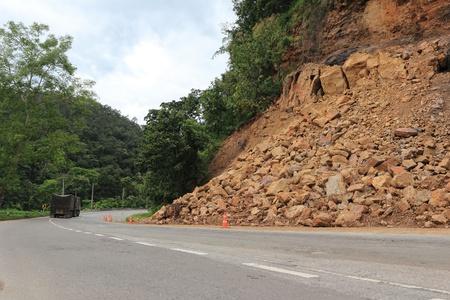 land slide: Landslide Stock Photo